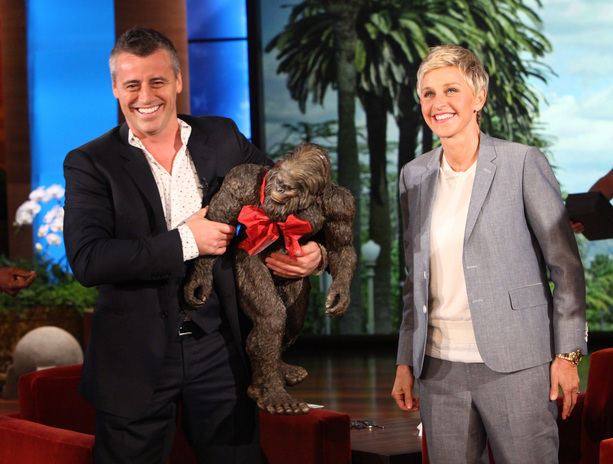 Nice ... Design Toscano Big Foot Matt LeBlanc And Ellen DeGeneres