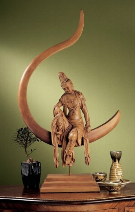 Guan Yin, Chinese Goddess of Compassion and Mercy Sculpture, Item#NG33380