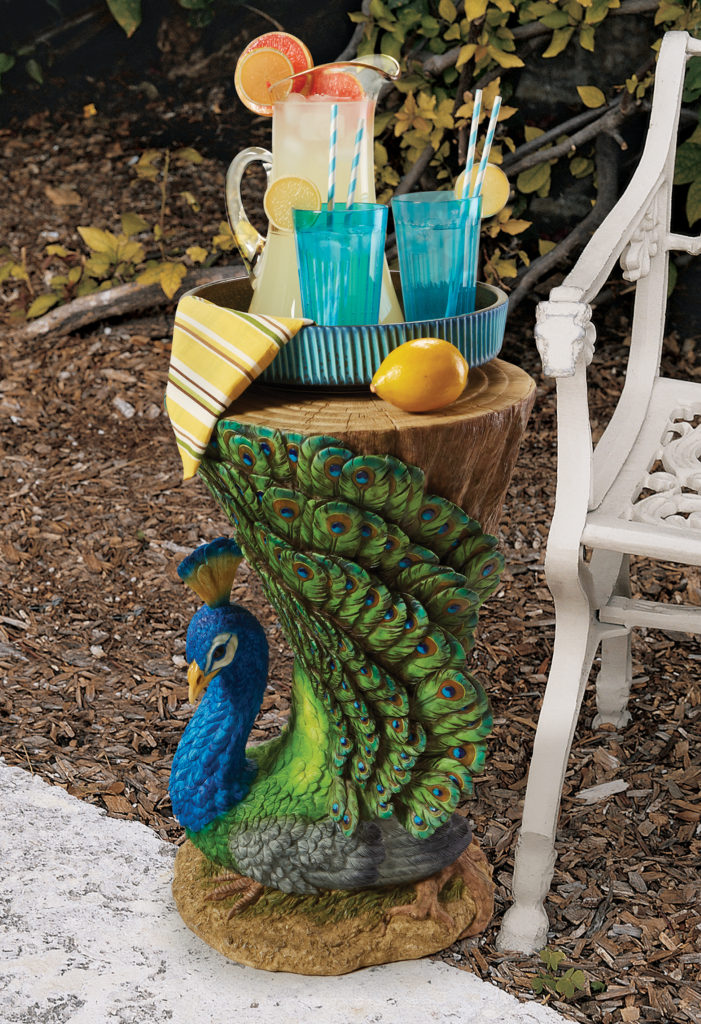 Provocative Peacock Sculptural Garden Table (JQ9453)