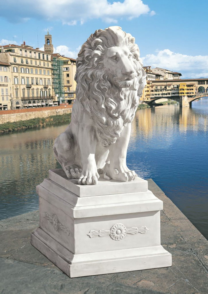 Lion of Florence Sentinel Statue & Base