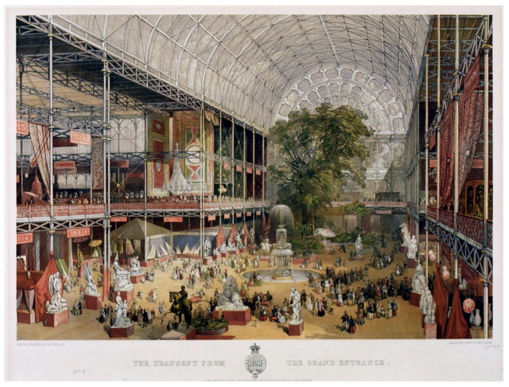 The Grand Entrance of the Crystal Palace (via V&A)