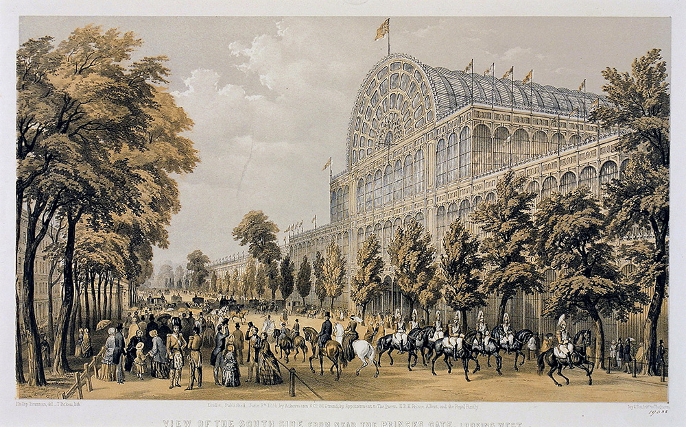 The Crystal Palace in the park painting via vam.ac.uk