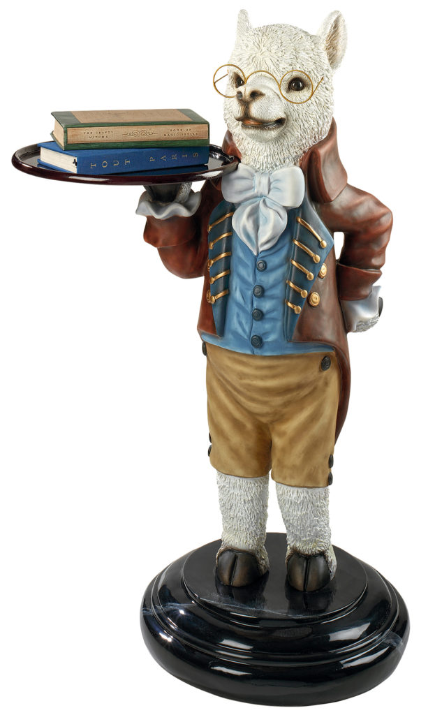 Alfred the Alpaca at Your Service Sculptural Butler Table