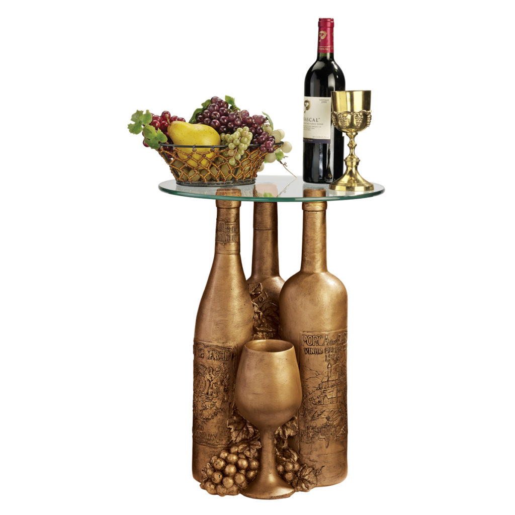 Wine and Dine Glass-Topped Sculptural Table (EU32574)