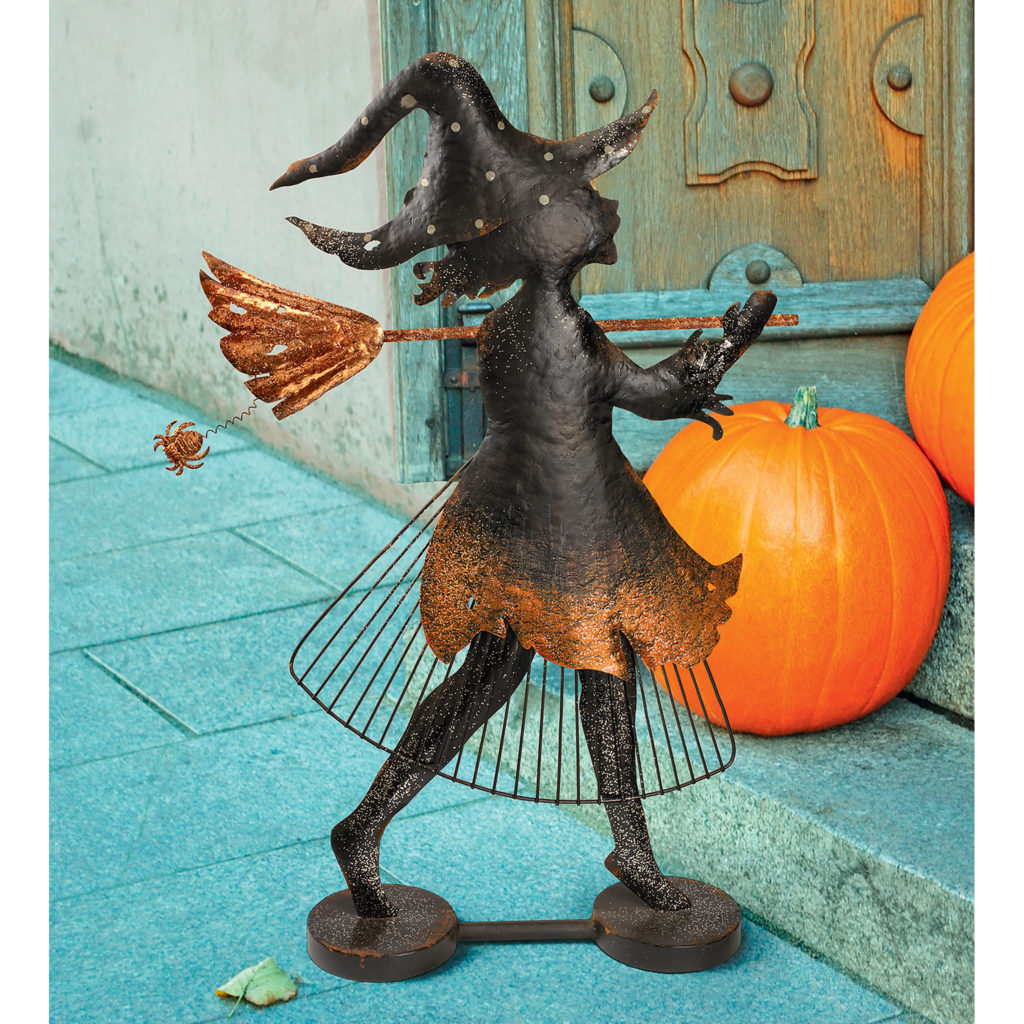 Bewitched Blaise Metal Silhouette Witch Statue