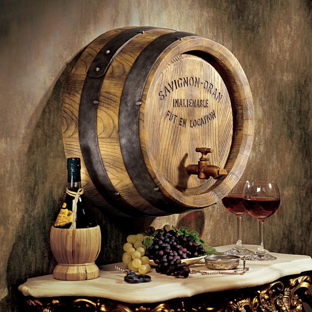 French Wine Barrel Wall Sculpture (NG32903)