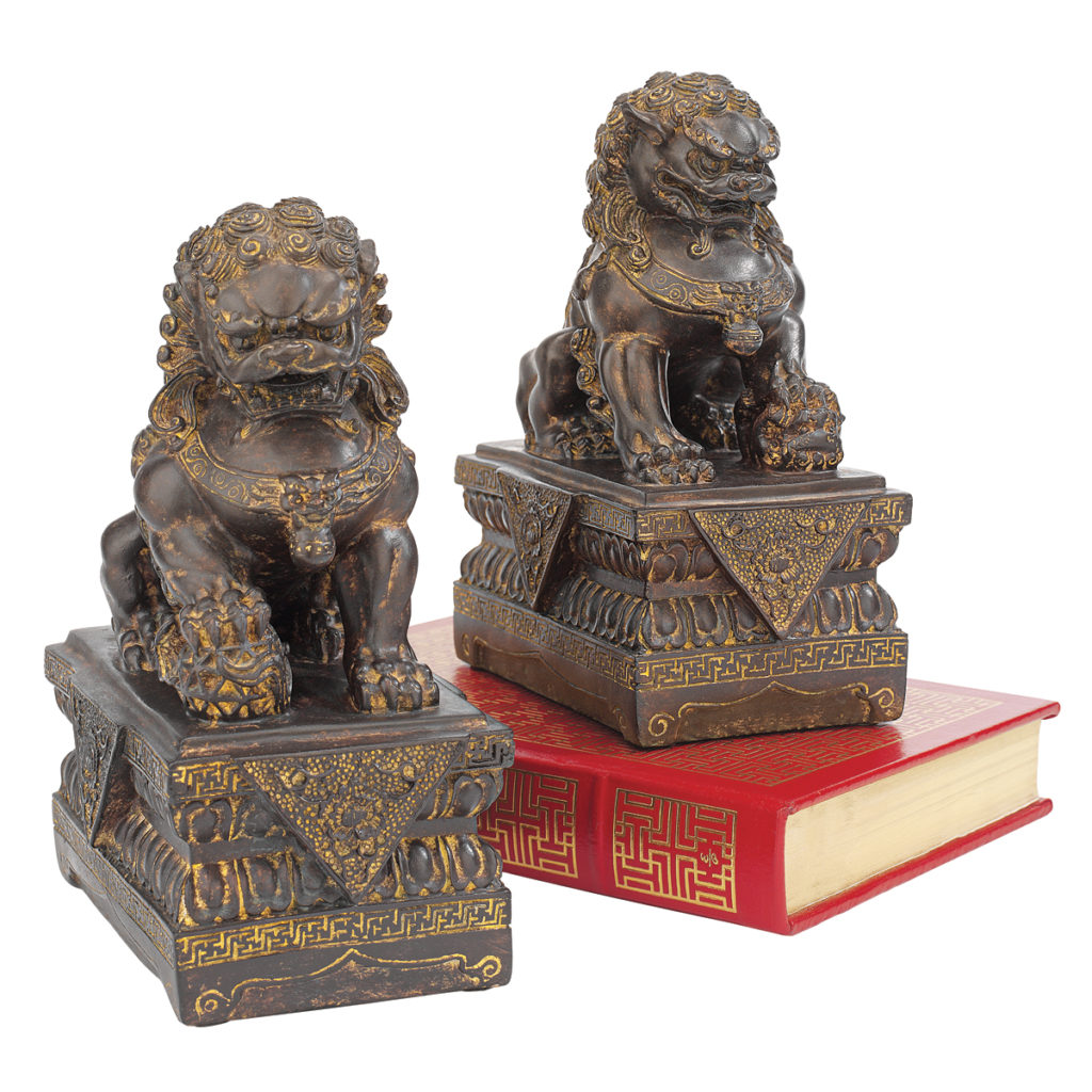 Chinese Guardian Lion Foo Dog Statues (NY91366801)