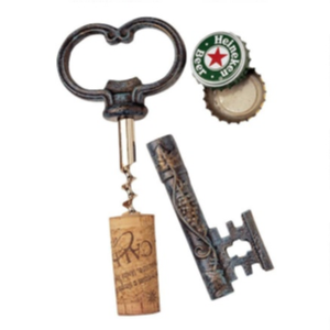 Bishop Church Key Corkscrew Bottle Opener (SP8972)