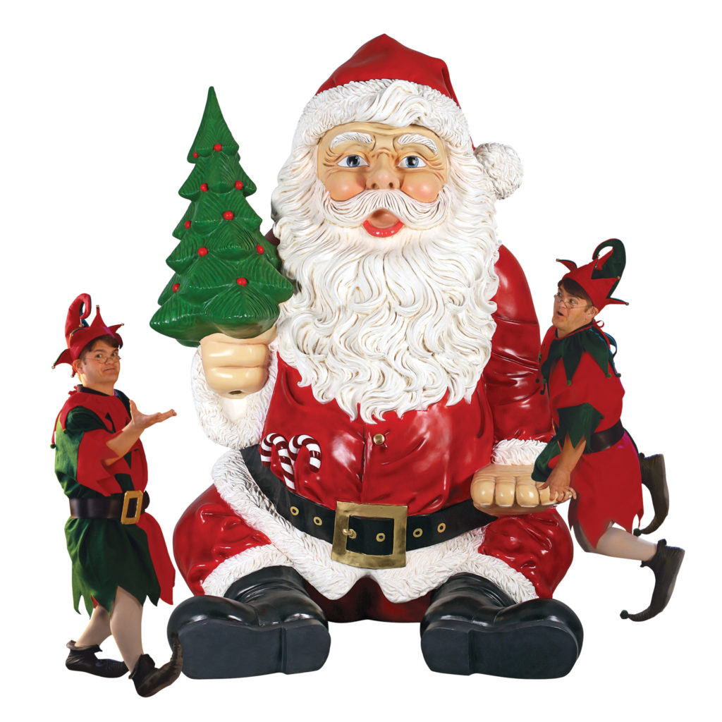 Giant Sitting Santa Claus Statue with Hand Seat (NE140080)