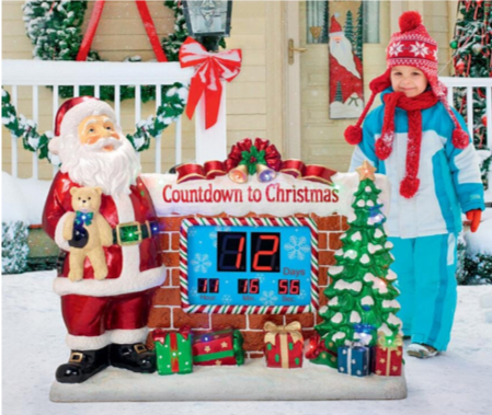 Santa's Countdown to Christmas Digital Sculpture Item#DB477697