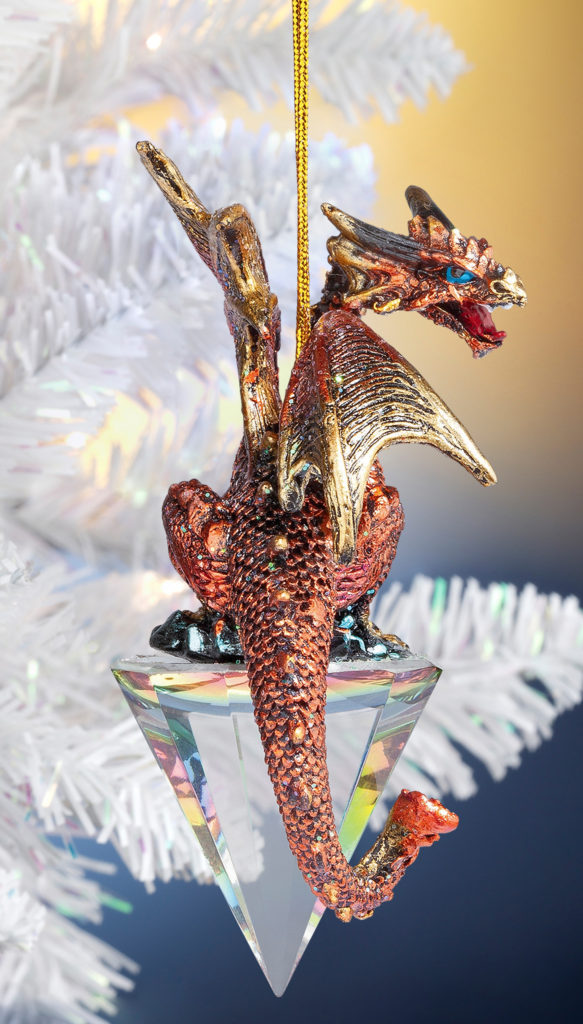 Diamond Dragon Ornament (QS94881)